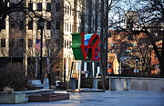 """love Park""  Framed Prints - Love Park in Philadelphia Framed Print by Bill Cannon"
