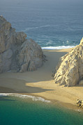 Baja California Sur Framed Prints - Lovers Beach, Cabo San Lucas Framed Print by Victor Elias