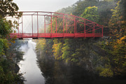 Housatonic River Posters - Lovers Leap Bridge Poster by Bill  Wakeley