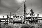 Low Country Framed Prints - Lowcountry Shrimp Boat Framed Print by Scott Hansen