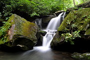 Dropping Prints - Lower Grotto Falls Print by Robert Harmon