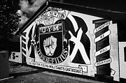 Murals Photo Prints - loyalist murals in Lower Newtownards Road area of protestant East Belfast Northern Ireland Print by Joe Fox