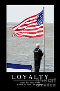 Sailor Hat Posters - Loyalty Inspirational Quote Poster by Stocktrek Images