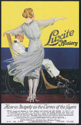 Featured Art - Luxite 1910s Usa Womens Hosiery by The Advertising Archives