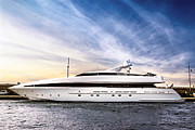Yacht Photo Prints - Luxury yacht Print by Elena Elisseeva