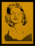 Norma Jean Prints - M M In Orange Print by Rob Hans