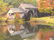 Mabry Paintings - Mabry Mill by Lynne Jenkins