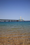 Upper Peninsulas Framed Prints - Mackinac Bridge Framed Print by Frank Romeo