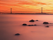 Mackinac Bridge Prints - Mackinac Bridge Print by Todd Bielby