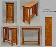 Coffee Table Sculptures - Mackintosh Sofa table/tv stand by Dryad Studios