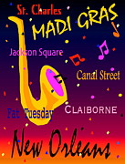 Madi Gras Print by Gayle Price Thomas