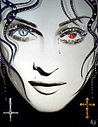 Medusa Mixed Media Metal Prints - Madonna Metal Print by Alicia Hayes
