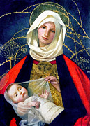 Mother Mary Metal Prints - Madonna and Child Metal Print by Marianne Stokes
