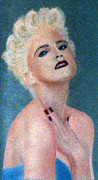 Madonna Pastels Prints - Madonna The Early Years Print by Bill Holkham