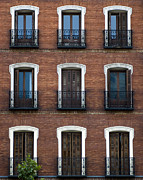 Brick Buildings Prints - Madrid Print by Frank Tschakert