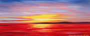 Sunset Pieces Posters - Magic at Sunset Poster by Gina De Gorna