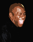 Magic Johnson Posters - Magic Poster by Kevin Barron
