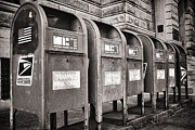 Mailboxes Framed Prints - Mailboxes Framed Print by Patrick M Lynch