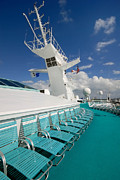 Antenna Acrylic Prints - Majesty of the Seas Upper Deck Acrylic Print by Amy Cicconi