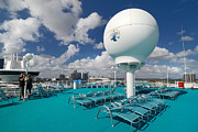 Cruising Metal Prints - Majesty of the Seas Upper Deck Satellite Equipment Metal Print by Amy Cicconi