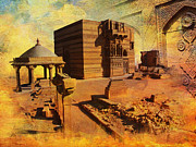 India Metal Prints - Makli Hill Metal Print by Catf