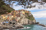 Ship Framed Prints - Manarola Framed Print by Joana Kruse