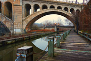 Philadelphia Metal Prints - Manayunk Bridge Metal Print by Jack Paolini