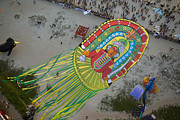 Kiting Framed Prints - Mangalore, Kite Festival Framed Print by Nicolas Chorier