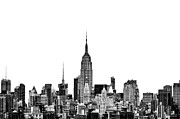 New York Winter Framed Prints - Manhattan Skyline Framed Print by John Farnan