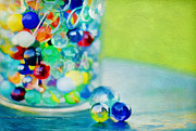 Ball Jar Posters - Marbles II Poster by Darren Fisher