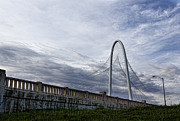 Dallas Photo Metal Prints - Margaret Hunt Hill Bridge Metal Print by Elena Nosyreva