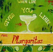 Cheers Mixed Media Prints - Margaritas Print by Amanda Clark