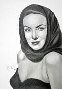 Maria Drawings Framed Prints - Maria Felix Framed Print by Enrique Garcia