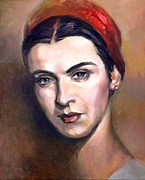 Romania Paintings - Maria Tanase by Filip Mihail