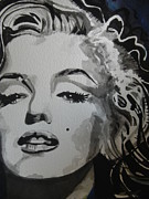 Acting Paintings - Marilyn Monroe by Chrisann Ellis