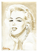 Actors Painting Originals - Marilyn Monroe by David Iglesias