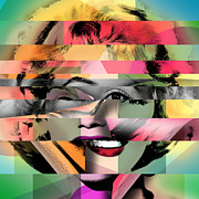 Vintage Digital Art Digital Art Metal Prints - Marilyn Monroe Metal Print by Mark Ashkenazi
