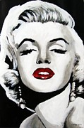 Superstar Mixed Media Prints - Marilyn Monroe Print by Venus