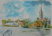 Marlow On Thames Print by Geeta Biswas