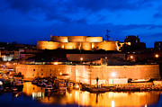 Panorama Art - Marseille France panorama at night by Michal Bednarek
