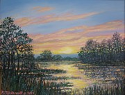 Marsh Scene Paintings - Marsh Sketch # 2 by Kathleen McDermott