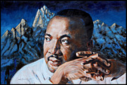 Civil Rights Painting Metal Prints - Martin Luther King Metal Print by John Lautermilch