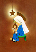 Christmas Cards Digital Art - Mary and Baby Jesus by Munir Alawi