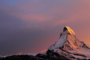 Matterhorn Prints - Matterhorn at sunset Print by Jetson Nguyen