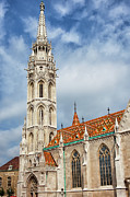 Religious Structure Prints - Matthias Church in Budapest Print by Artur Bogacki