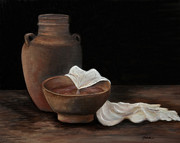 Pottery Paintings - Maundy by Gina Cordova