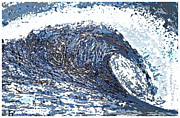 California Big Wave Surf Prints - Mavericks Wave Print by RJ Aguilar