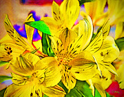 Yellow Flowers Posters - May Flowers Poster by Chuck Staley