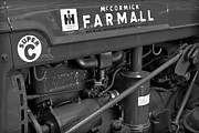 Machinery Framed Prints - Mc Cormick Farmall Super C Framed Print by Susan Candelario