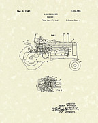 Farming Drawings - McCormick Tractor 1942 Patent Art by Prior Art Design